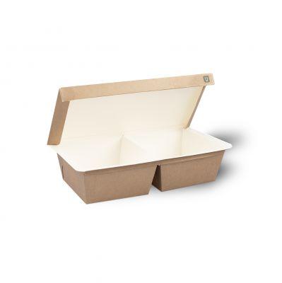 Natural Ware NeverLeak Duo Compartment 550/ 550 ml - 165 stuks