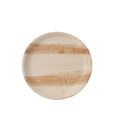 Hampi Jeeva Shallow Round L palmblad bord (25cm) - 25 stuks