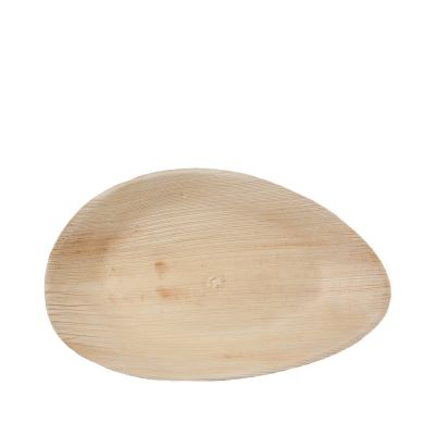 Hampi Raaga Oval L palmblad bord (26cm) - 25 stuks
