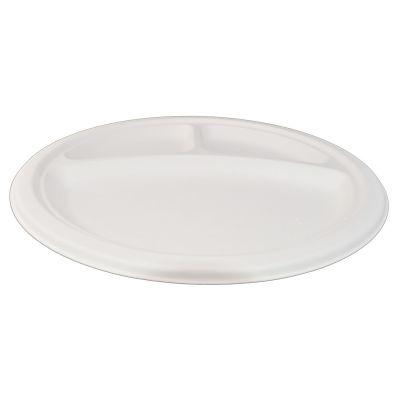 Purebagasse 3-vaks bord (26cm) - 50 stuks