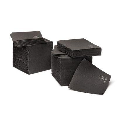 Natural Ware cocktail servet FSC papier zwart (20cm) - 50 stuks