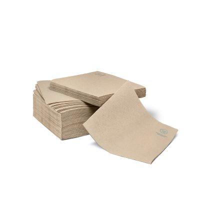 Natural Ware gerecyclede papieren servet naturel (33cm) - 50 stuks
