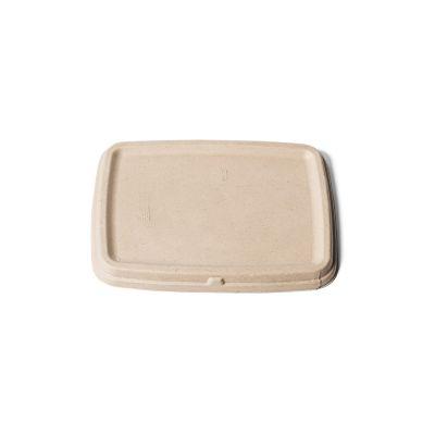 Natural Ware Bagasse deksel voor take away bakjes (16x23cm) - 75 pcs