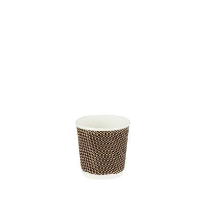 Natural Cups Ripple cup Zwart/Bruin (4oz/120ml) - 50 stuks
