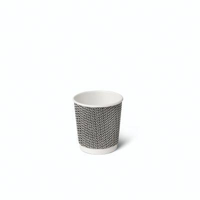 Natural Cups Ripple cup Zwart/Wit (4oz/120ml) - 50 stuks