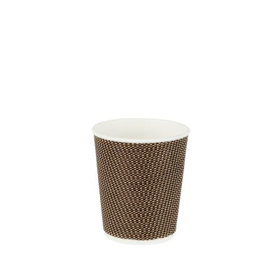 Natural Cups Ripple cup Zwart/Bruin (8oz/240ml) - 25 stuks