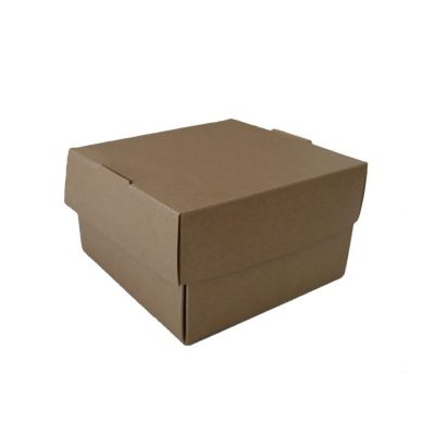Kraft Blossoming hamburger box - 250 stuks