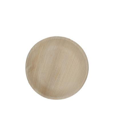 Hampi Jeeva Round M palm leave plate (18cm) - 25 pcs