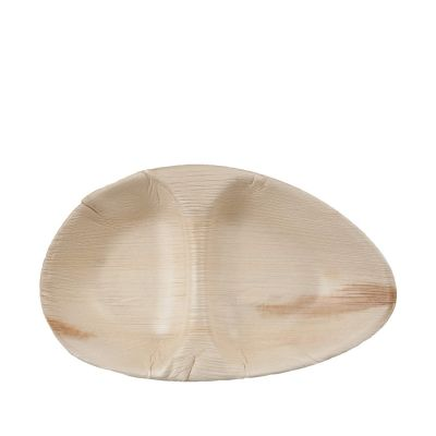 Hampi Raaga Double palm leave plate (26cm) - 25 pcs