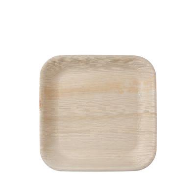 Hampi Jeeva Square M palm leave plate (24cm) - 25 pcs