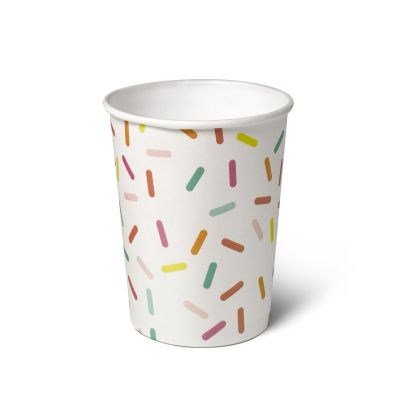 Natural Cups Celebration Confetti papieren beker (240 ml) - 25 stuks
