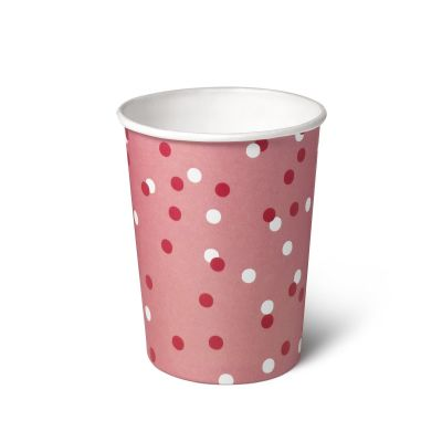Natural Cups Celebration Pink papieren beker (240 ml) - 25 stuks