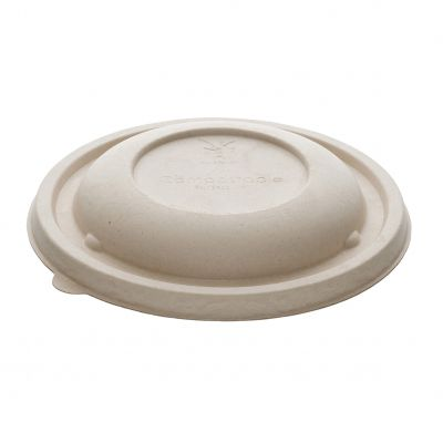 Natural Ware Bagasse lid for Buddha bowl (17cm) - 75 pcs