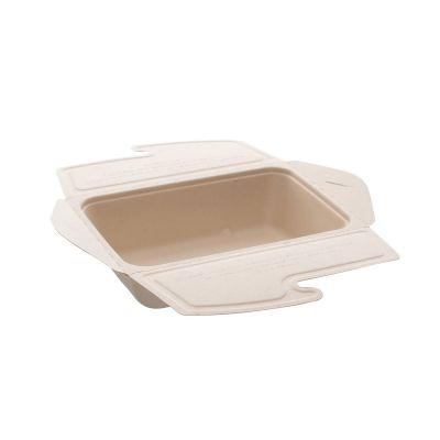 Natural Ware bagasse Mealbox (1000ml) - 75 pcs