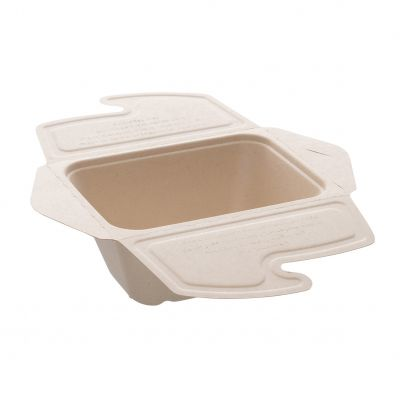 Natural Ware Bagasse take away/noodlebox (500ml) - 50 stuks