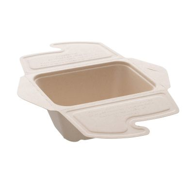 Natural Ware Bagasse take away/noodlebox (750ml) - 50 stuks