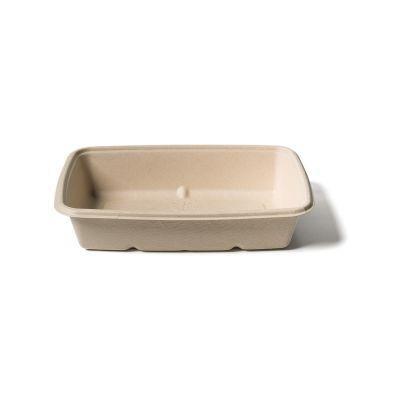 Natural Ware Bagasse rectangular tray (950ml) - 75 pcs