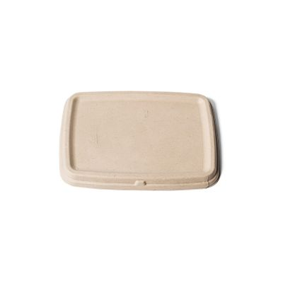 Natural Ware Bagasse lid for rectangular trays (16x23cm) - 75 pcs