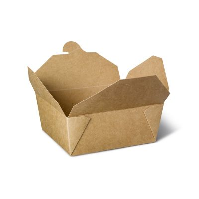 Natural Ware Takeaway box kraft (1350ml) - 50 stuks