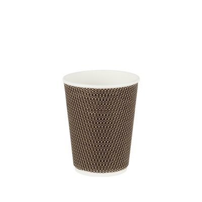 Natural Cups Ripple cup Black/Brown (12oz/360ml) - 25 pcs